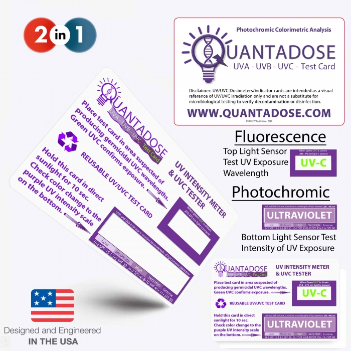 quantadose-fluorescence-germicidal-uvc-test-and-photochromic-uv-wide-band-test-card