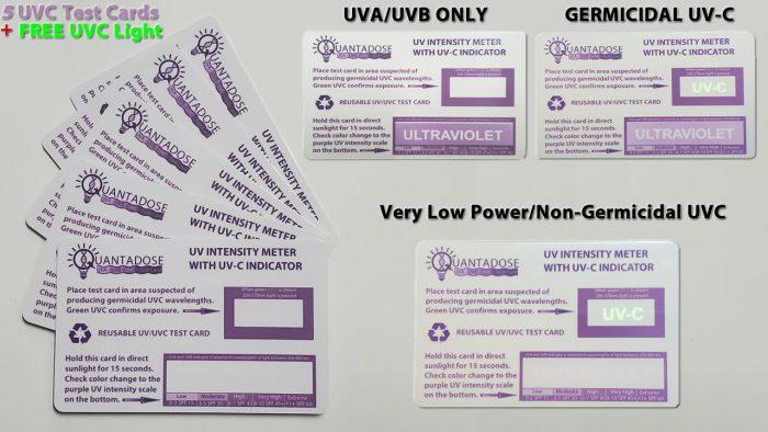 5-pcs-installer-package-5-quantadose-uvgi-test-cards-free-uvc-uv sterilizer-wand-free3w-uvc-calibration-light