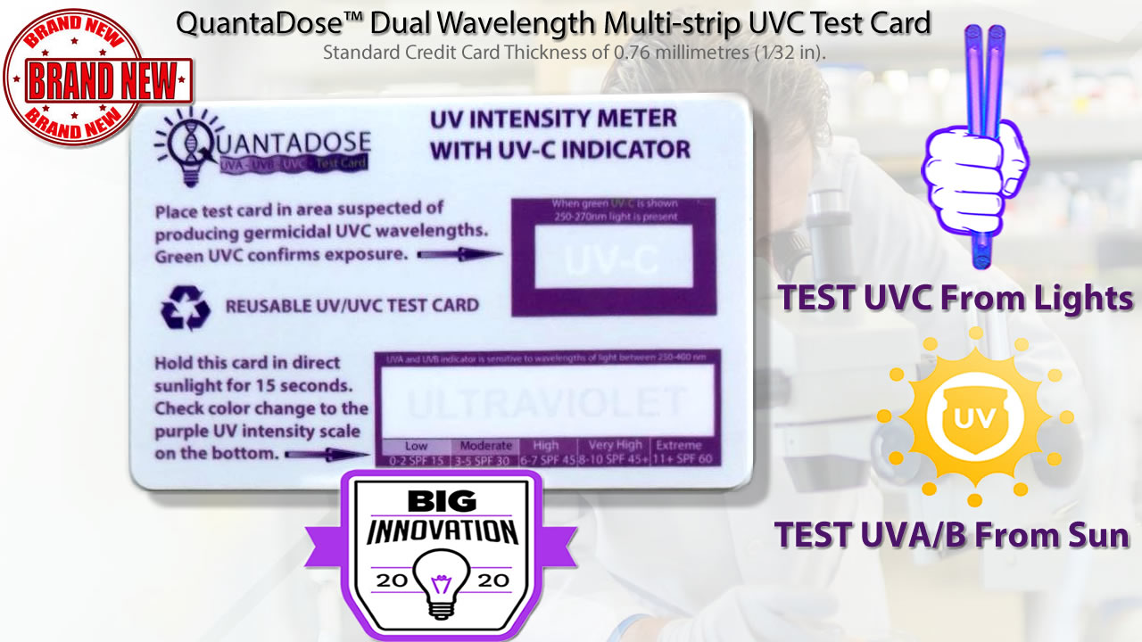 QuantaDose-dual-wavelength-uvc-test-strip-UVC-test-card-measures-UV-UVC-intensity