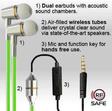 stereo-green-air-tube-headset-qunatabuds