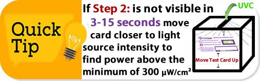 step-2-3-15-seconds-not-visible-move-closer-to-uvc-light-quantadose-card