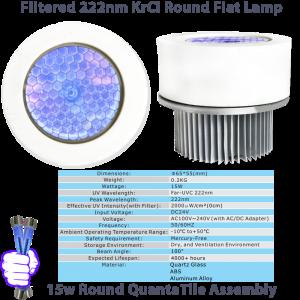 First UVC Round Tile 15-Watt Far UVC Excimer Module