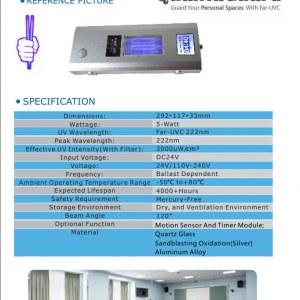 First UVC 5-watt Luminaire Far-UVC 222nm Light