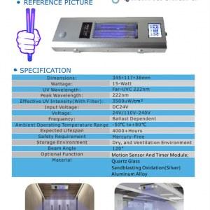 First UVC 15-watt Luminaire Far-UVC 222nm Light