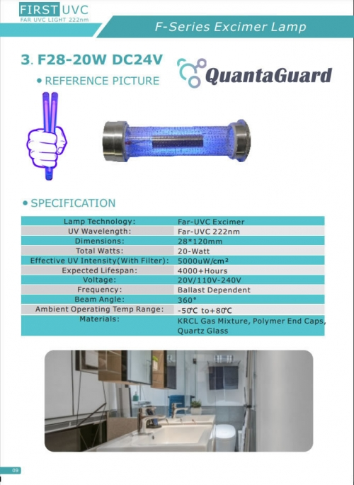 5a-quantaguard-Far-UV-Excimer-Lamp-F28-20W-DC24V-Far-UV-BulbFar-UVC-Excimer-Lamp-F28-40W-DC-24V-Far-UVC-Excimer-222nm-bulbs