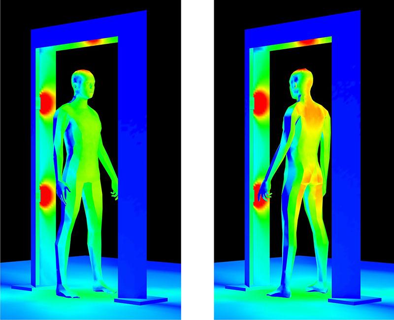 Far-uv-gate-front-45-degree-rotation-Designing-far-UV-C-Germicidal-System-QuantaHall-Far-UV-Entry-Containment-Corridor-Far-UVC-Light-Decontamination-Passageway