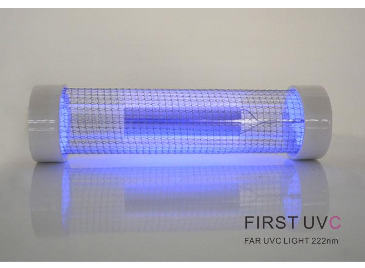 Far-uvc-Quantalamp-close-upglow--F-Series-FirstUVC-24V-Far-UV-222nm-20-watt-Excimer-far-uvc-222nm-20-watt-Lamp-f28-24v-dc
