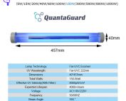 Far-uvc-Quantalamp-specs-F-Series-FirstUVC-F40-150W-AC220V-ac-50-60hz--Far-UV-222nm-150-watt-Excimer-far-uvc-222nm-150-watt-Lamp-F40-150W-AC220V-110-240v-