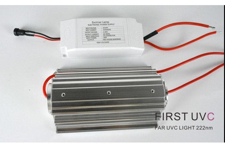 top-bottom-Far-uvc-Quantalamp-b-series-FirstUVC-24V-Far-UV-222nm-20-watt-Excimer-far-uvc-222nm-20-watt-Lamp-f28-24v-dc