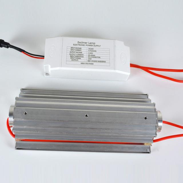 top-view-power-supply-Far-uvc-Quantalamp-b-series-FirstUVC-24V-Far-UV-222nm-15-watt-Excimer-far-uvc-222nm-15-watt-b28-24v-dc